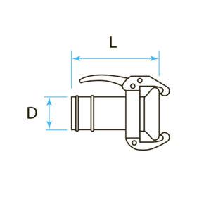 KMS — Муфта с патрубком для шланга