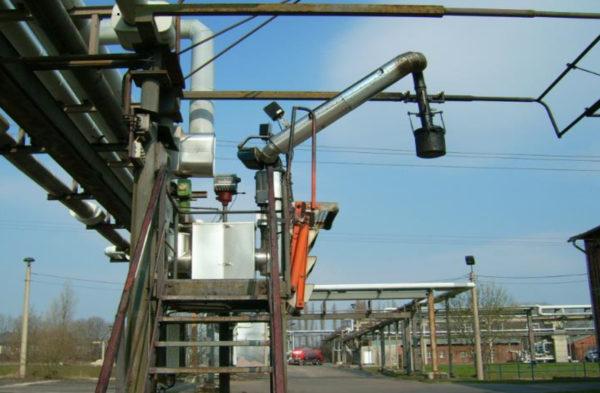 Установка верхнего налива высоковязких нефтепродуктов в автоцистерны