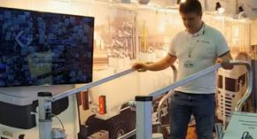 Демонстрация работы трапа TechnoTech серии Т540-4G с пневмоприводом