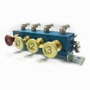 Пневматические блоки управления клапанами автоцистерны PCP-TS-1/3