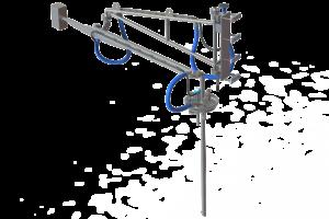 Установка верхнего налива формалина в танк-контейнеры на Ж/Д платформах